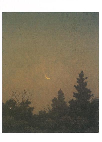 (1)高島野十郎「有明の月」