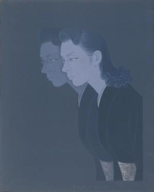 上田宇三郎「人物 二重像」1946年 紙本着色