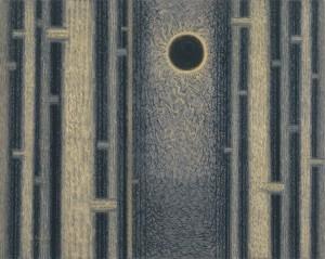 上田宇三郎「陽」1960年 紙本着色