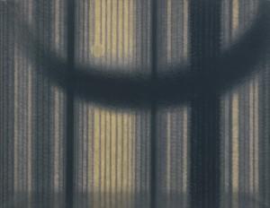 上田宇三郎「樹林」1958年 紙本着色