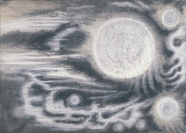 上田宇三郎「水」1961-64年 紙本墨画