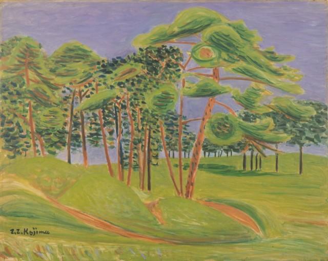 児島善三郎「代々木の原」昭和9年(1934)、第5回独立展