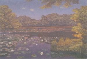 高島野十郎「すいれんの池」