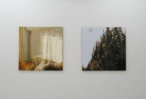 森田加奈子(左)「アンティエ」2011年/(右)「コイル」2011年(絵画)