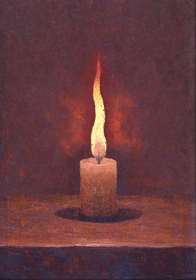 高島野十郎「蝋燭」1912-25年、当館蔵