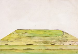 「頂上の風景」1987年、水彩・紙