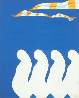 「満帆2」1969年、油彩・画布