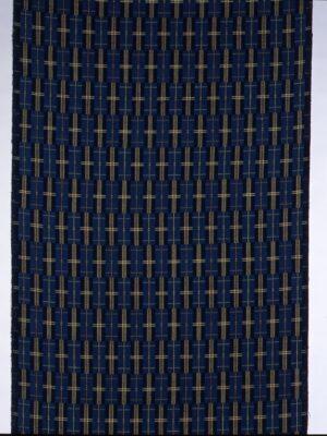 木綿地風通織着尺「藁のカジマヤー」1998年