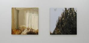 森田加奈子(左)「アンティエ」2011年/(右)「コイル」2011年 [絵画]