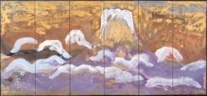 「雪中富士連峰」勅使河原蒼風