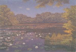(5)高島野十郎「すいれんの池」