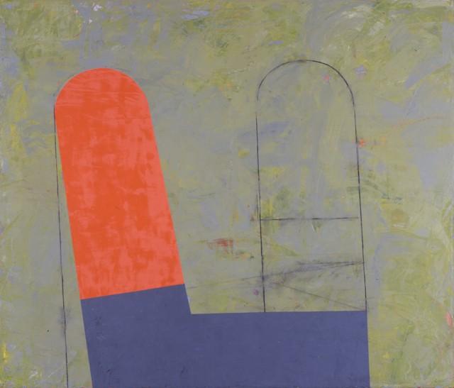 古川吉重「L10-4」1991年、油彩・画布、福岡県立美術館蔵