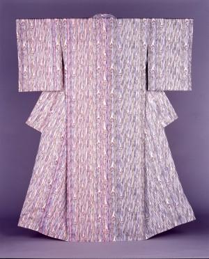 型絵染着物「もじずり」1997年 当館蔵