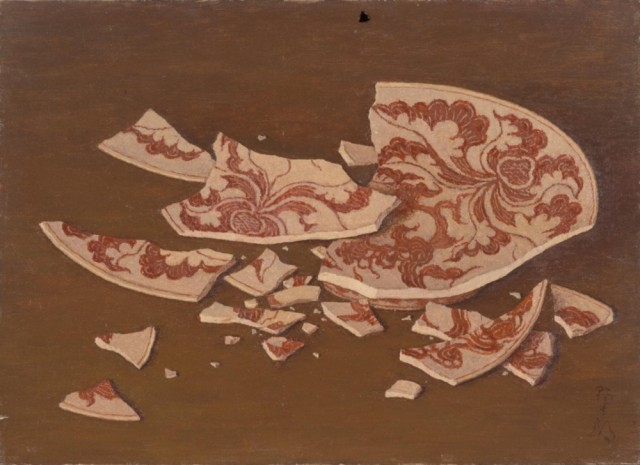 髙島野十郎「割れた皿」1958年頃、当館蔵