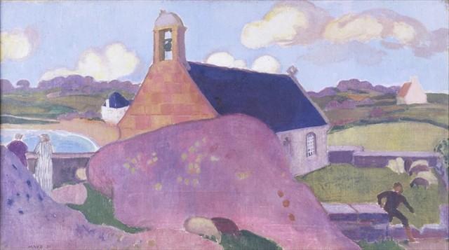 モーリス・ドニ《ピンクの教会、ティヨーロワ》1921年