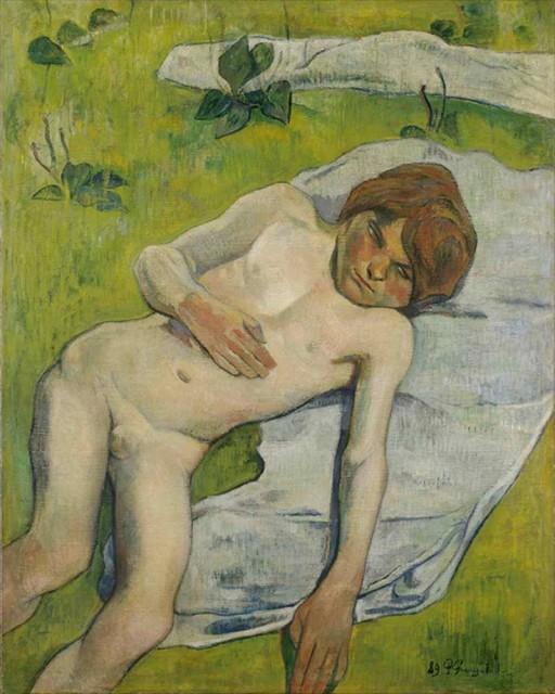 ポール・ゴーギャン《ブルターニュの少年》1889年