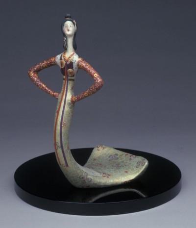 鹿児島寿蔵《紙塑人形「佐保比売歌ふ」》1960年