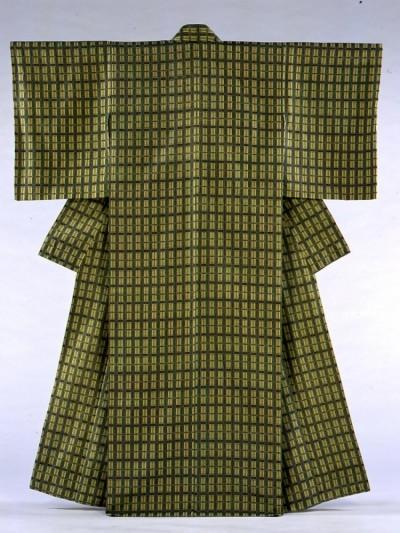 高木秋子 木綿地風通織着物《ミモザの季節》1995年、当館蔵