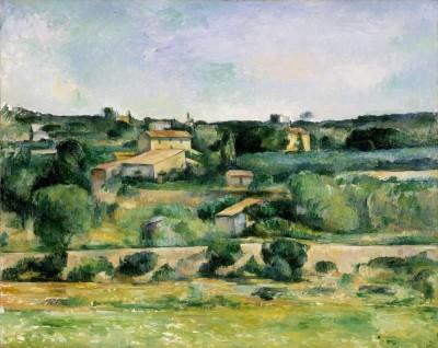 ポール・セザンヌ 《エクス=アン=プロヴァンス西部の風景》1885-88年 ヴァルラフ=リヒャルツ美術館&コルブー財団、ドイツ、ケルン