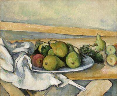 ポール・セザンヌ 《洋梨のある静物》1885年頃 ヴァルラフ=リヒャルツ美術館&コルブー財団、ドイツ、ケルン