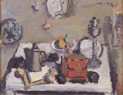 山喜多二郎太《静物》1937年、当館蔵