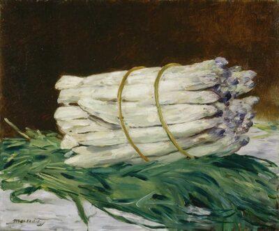 エドゥワール・マネ 《アスパラガス、静物》1880年 ヴァルラフ=リヒャルツ美術館&コルブー財団、ドイツ、ケルン