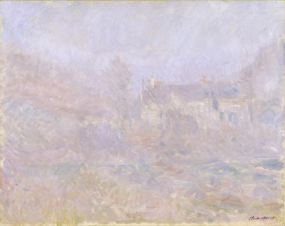 クロード・モネ 《霧に煙るファレーズの家》1885年 ヴァルラフ=リヒャルツ美術館&コルブー財団、ドイツ、ケルン