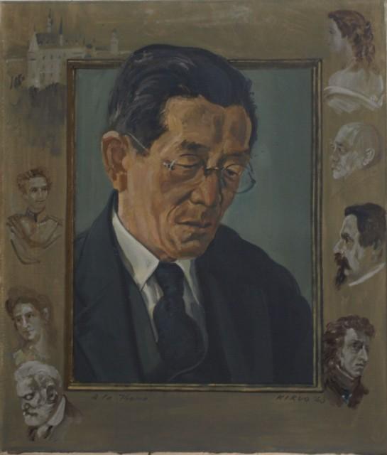 (第4章)児島喜久雄「長寿吉先生像」九州大学文学部