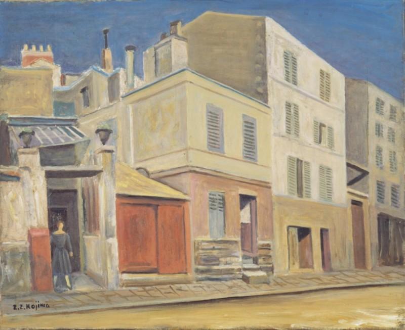 児島善三郎《パリーの裏街》1927年(1959年児島善三郎自選展)