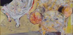 本田 郁實 《額を集めて相談する椅子》 第72回福岡県美術展覧会 日本画部門 県知事賞