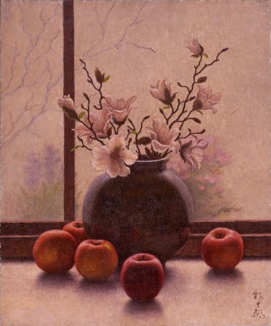 髙島野十郎「こぶしとリンゴ」