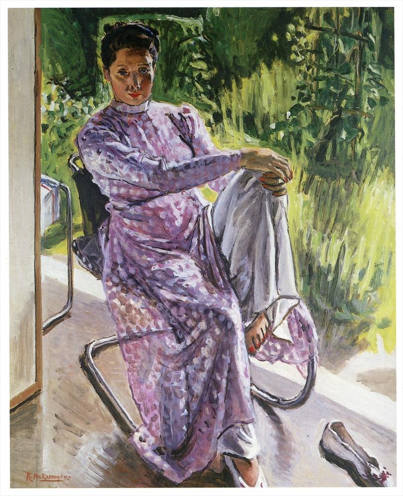 中村研一「サイゴンの夢」1947年、当館蔵