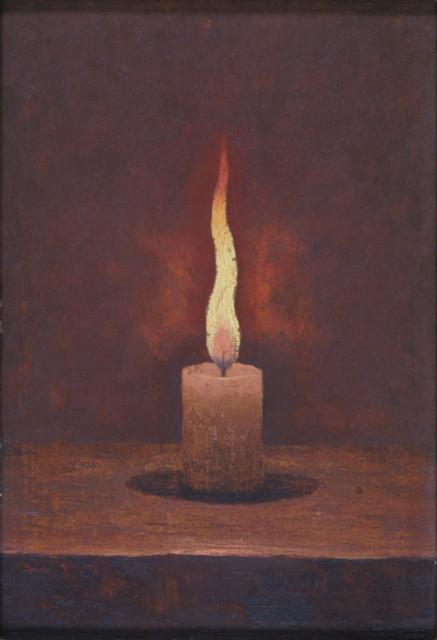 髙島野十郎「蝋燭」
