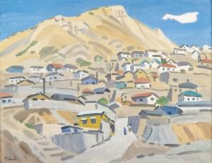 中村琢二「ソウルの丘」1970年、当館蔵