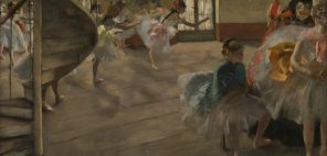 エドガー・ドガ「リハーサル」1874年頃、油彩・カンヴァス グラスゴー、バレル・コレクション ©CSG CIC Glasgow Museums Collection