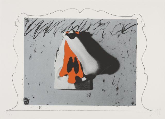 菊畑茂久馬「花開く(版画集「オブジェデッサン」より)」1978年、当館蔵