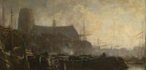 ヤーコプ・マリス「ドルドレヒトの思い出」1884年頃、グラスゴー、バレル・コレクション © CSG CIC Glasgow Museums Collection