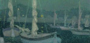 アンリ・ル・シダネル「月明かりの入り江」1928年、油彩・カンヴァス グラスゴー、バレル・コレクション © CSG CIC Glasgow Museums Collection