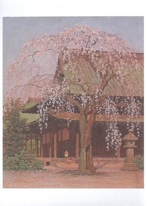 (3)高島野十郎「境内の桜」