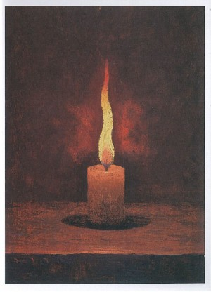 (12)高島野十郎「蝋燭」