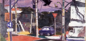 大内田茂士「落合の街角」1986年、油彩・画布