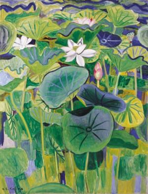 児島善三郎「蓮花」1939年、福岡県立美術館蔵