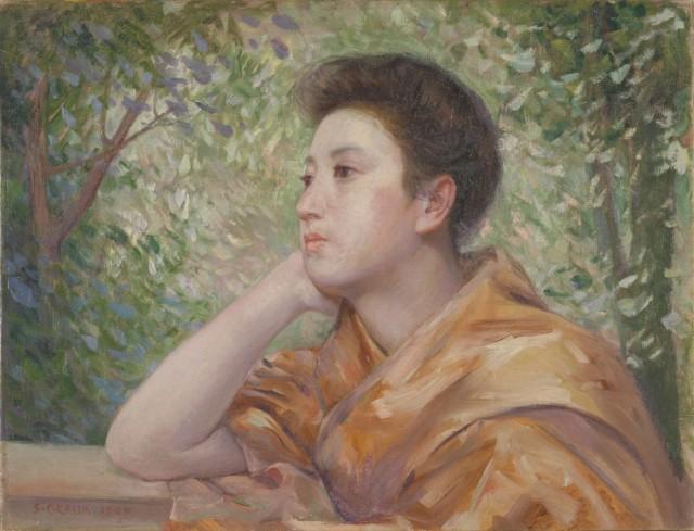 岡田三郎助 「婦人像」1909年、福岡県立美術館