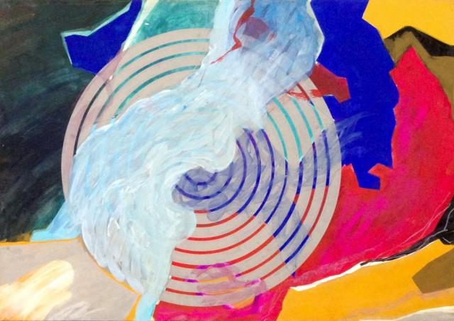 大黒愛子《New York in New York》(部分) 1990-91、水彩、パステル、紙 当館蔵