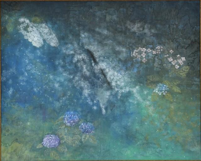 近藤 史紀《雨星夜》 第73回県展 日本画部門 福岡県知事賞受賞作品