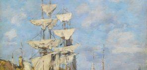 ウジェーヌ・ブーダン「ドーヴィル、波止場」1891年、グラスゴー、バレル・コレクション © CSG CIC Glasgow Museums Collection