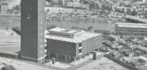 福岡県文化会館外観 1964年頃 撮影者不詳