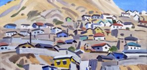 中村琢二「ソウルの丘」1970年、福岡県立美術館蔵