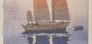 吉田博「帆船 朝」1926年、個人蔵