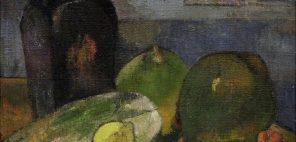 ポール・ゴーギャン《ドラクロワのエスキースのある静物》1887年頃 油彩、カンヴァス ストラスブール近現代美術館蔵 Photo credit; Musée d'Art Moderne et Contemporain de Strasbourg, Photo Musées de Strasbourg